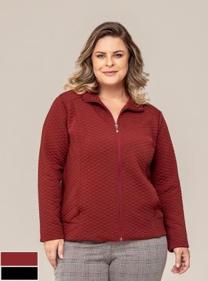 Jaqueta Plus Size em Matelasse Clipping