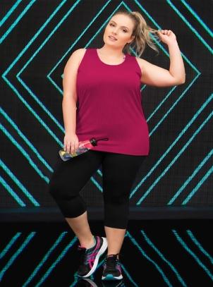 Calça Plus Size Corsário Fitness