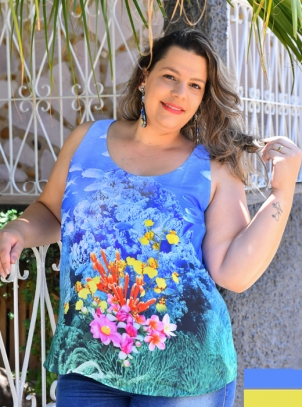 Regata Plus Size Frente Estampada