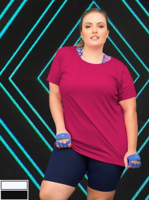 Camiseta Plus Size Joy Fitness