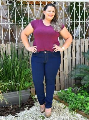 Calça Jeans Plus Size Cós Duplo