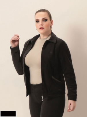 Jaqueta Plus Size de Moleton