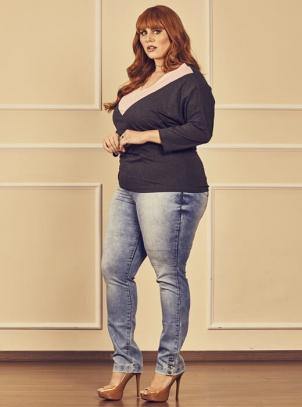 Calça Jeans Plus Size Delavê