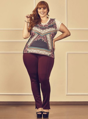 Calça Plus Size Montaria Graphic