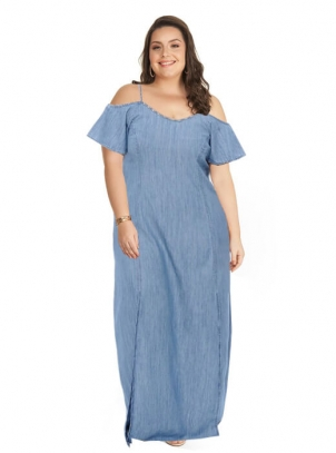 Vestido Longo Plus Size Ciganinha