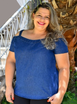Blusa Ciganinha Plus Size Alças