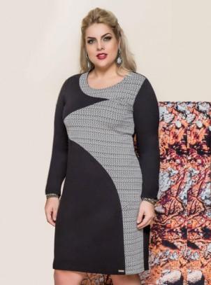 Vestido Plus Size Malha Vogue