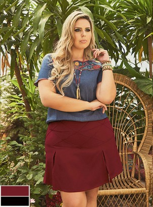 Short-Saia Plus Size Turmalina