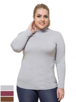 Blusa Cacharrel Plus Size Malha Flamê