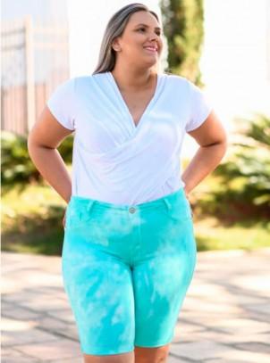 Bermuda Plus Size Tie Dye Sarja