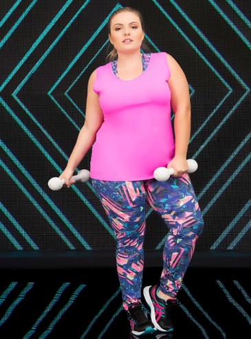 Legging Plus Size Estampada Fitness