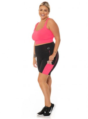 Bermuda Feminina Plus Size Power Fit