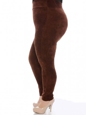 Calça Legging Plus Size Veludo