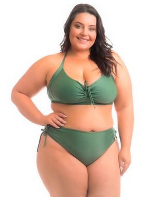 Biquíni Plus Size Verde Bora Bora
