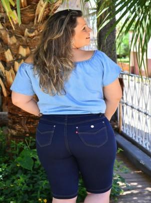 763f52389 Bermudas Femininas Plus Size   Do44ao54 Moda Plus Size