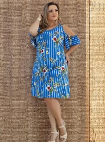 Vestido Plus Size Ciganinha Floral