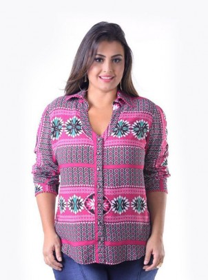 Camisa Plus Size Estampada