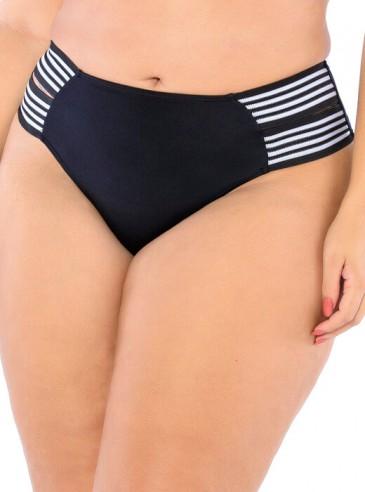Sunkini Preto Plus Size Elastic